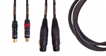Gold Series Cinch / XLR female dual cable, 1,0m